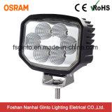 Luz de inundação do diodo emissor de luz 30W do profissional com a lâmpada preta do trabalho do diodo emissor de luz da carcaça