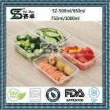 Cadre de déjeuner en plastique de compartiment simple pour le conteneur de nourriture