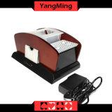 do cartão de madeira do póquer de 1 - 2 plataformas sapata automática Ym-CS06 do Shuffler e do negociante do cartão de jogo do uso dos dobros