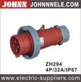 IP67 4p 32A imprägniern Stecker für industrielles