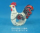 Anillo de servilleta de cerámica pintado a mano del gallo