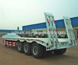 3 reboque do Semitrailer da base da tonelada 13m do eixo 60 baixo ou de Lowboy do caminhão Semi