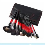 15PCS Private Label pinceau de maquillage avec Black PU Sac en cuir