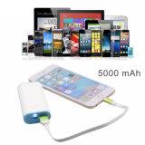 chargeur mobile portatif externe universel de vente chaud de côté du pouvoir 5000mAh