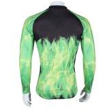 Куртка спортов способа зеленого цвета привидения лошади холодная покрывает втулка Breathable быстро сухой задействуя Джерси людей длинняя
