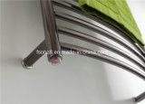 Черной грелка полотенца крома Hardwired нержавеющей сталью изогнутая