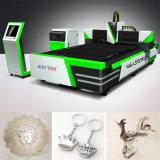 Máquina cortadora de corte a laser de fibra de 500W para chapa metálica