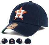3D金属のバックルの背部が付いているオレンジ刺繍6のパネルの野球帽