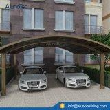 Couverture en aluminium d'ombrage de grand parking public en métal