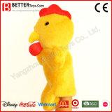 Marioneta de mano del juguete del animal relleno del pollo de la felpa para los cabritos