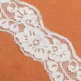 Merletto classico lavorato a maglia del nero di stirata della maglia del fiore