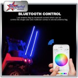 Bluetooth Control의 RGB LED 채찍 4FT 5FT 6FT 2 륜 마차 UTV ATV 지프를 위해 8FT