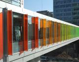 유리제이라고 색을 칠하는 인쇄된 패턴 또는 색깔 PVB 필름을%s 가진 장식적인 다채로운 박판으로 만들어진 유리 또는 색깔