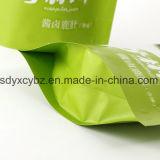 Saco Ziplock de pé personalizado tamanho do empacotamento plástico da promoção para o alimento