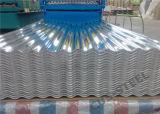 Zincalume acanaló la hoja de acero del material para techos de Aluzinc de los paneles del metal