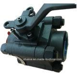 800lb 1500lb a modifié le robinet à tournant sphérique en acier de l'extrémité d'amorçage A105 TNP