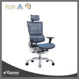 Großhandelschrom-Metallergonomischer Ineinander greifen-Büro-Stuhl mit Plastikarmlehnen-hohem rückseitiges Büro-Stuhl