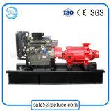 다단식 수도 펌프를 공급하는 보일러를 위한 디젤 엔진