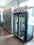 Armário de exposição de geladeira de 3 portas da loja de flores