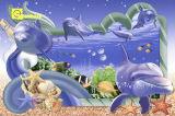 Pared del diseño de la inyección de tinta más nueva de Seaworld 3D y azulejo de suelo de cerámica