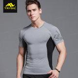 Adattare più usura di sport della camicia/maglia di compressione degli uomini di colore