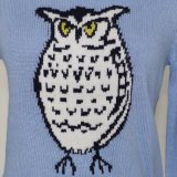 女性の方法長い袖および円形の首が付いている普及した突きぎりのIntarsiaのセーター