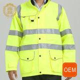 Uniformes r3fléchissants logistiques jaunes de travail d'OEM
