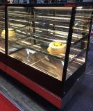 까만 대리석 기본적인 빵집 케이크 전시 냉각기 진열장 냉장고