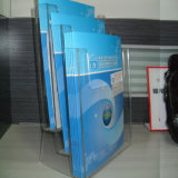 Cremalheira para originais, compartimento do folheto da bancada, panfletos