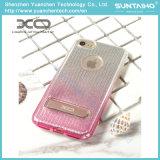 Яркий случай телефона задней стороны обложки пленки TPU глянцеватый с стойкой для iPhone 7plus iPhone 7