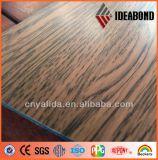 Painel composto de alumínio do revestimento de madeira popular fornecido por Foshan Ideabond