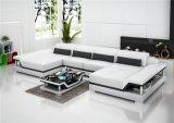 Sofá casero moderno del cuero del negro de la manera con la esquina (HC1110)