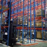 倉庫の記憶のための人のフォークリフトのVnaの高層ラック