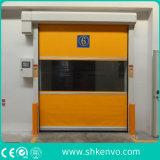Tela industrial automática del PVC Puertas rápidas que ruedan del caucho que actúan rápido