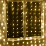 L'usine reconnue par RoHS en gros de Ce& assurent la lumière de rideau en glaçon de Noël DEL de Noël de 4m*0.6m pour la décoration extérieure de mariage de festival d'usager