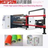 PVC Fhqe-1300 de alta velocidade que corta e máquina do rebobinamento