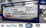 T50 Liquied Gas-Becken-Behälter mit Ventilen und waagerecht ausgerichtetem Anzeigeinstrument