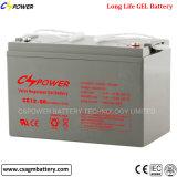 Gel solar antirrobo Lleno-Sellado de la batería 12V 100ah del gel del almacenaje del tornillo