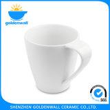 Tazza bianca personalizzata del caffè della porcellana di marchio 375ml
