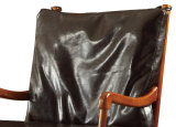 現代ホーム家具の本革の木の肘掛け椅子