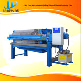 Máquina automática da imprensa de filtro capaz de limpar automaticamente o pano de filtro para a argila e o Wastewater municipal que secam