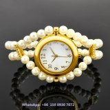 Agraciado bonito reloj de cuarzo mujeres con correa de perlas Fs580