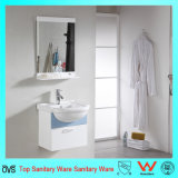 Cabinas de cuarto de baño de cerámica inferiores del PVC de las mercancías de Sanitry con el lavabo