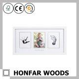 Heet verkoop Frame van de Foto van Mike het White Solid Wood Baby met Klei