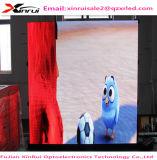 Alta calidad impermeable al aire libre a todo color vendedora caliente de la visualización de LED de P6 SMD