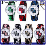 Relojes de nylon de lujo de la venta al por mayor del deporte de las mujeres del reloj de la manera de la correa de la OTAN de señora reloj del diamante encantador Yxl-223