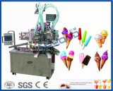 cadena de producción del helado helado de la leche