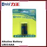 Bateria alcalina de Lr03 1.5V AAA