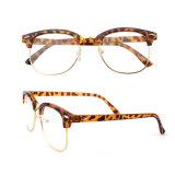 Ynjn OEMのカスタムロゴの方法半分フレーム光学Eyewear (YJ-0703)