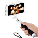 Bâton extensible pliable de Selfie de câble par Monopod de bâton de Selfie avec l'obturateur éloigné intrinsèque